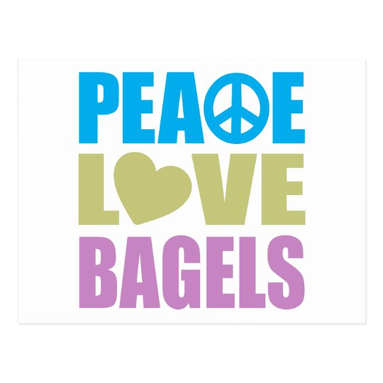 Peace Love Bagels Postcard