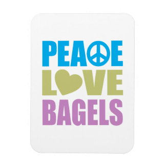 Peace Love Bagels Rectangular Photo Magnet