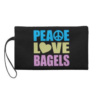 Peace Love Bagels Wristlet Purse