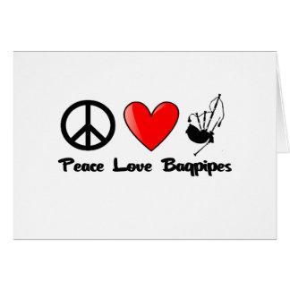 Peace, Love, Bagpipes Card