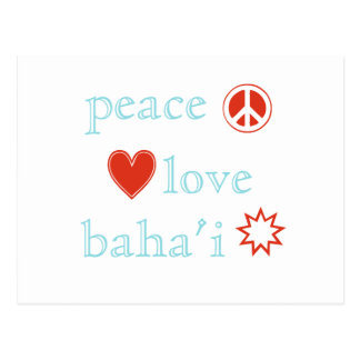 Peace Love Bahai Postcard