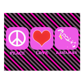 Peace Love Bahamas Postcard