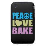 Peace Love Bake Tough iPhone 3 Case