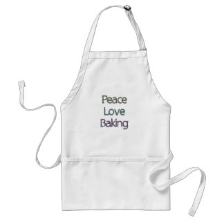 Peace, Love, Baking Adult Apron