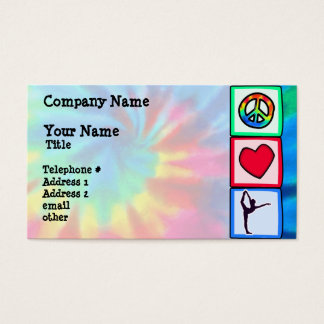 Peace, Love, Ballet Business Card