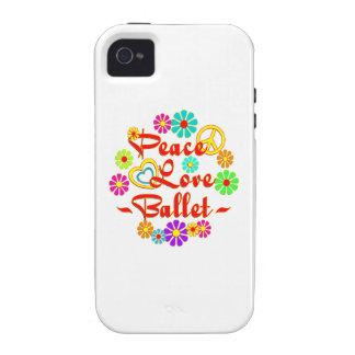 PEACE LOVE Ballet Case-Mate iPhone 4 Case