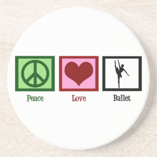 Peace Love Ballet Drink Coaster