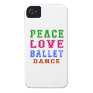 Peace Love Ballet Dance Case-Mate iPhone 4 Case
