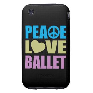 Peace Love Ballet iPhone 3 Tough Case