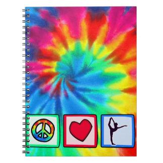Peace, Love, Ballet Spiral Note Book