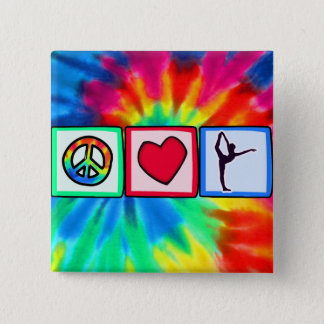 Peace, Love, Ballet Pinback Button