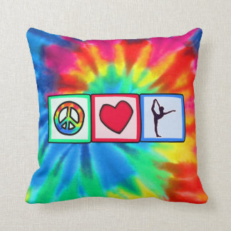 Peace, Love, Ballet Throw Pillow