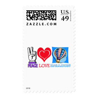 PEACE LOVE BALLOON POSTAGE STAMPS