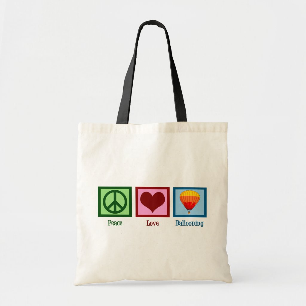 Peace Love Ballooning Bags