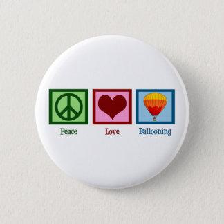 Peace Love Ballooning Pinback Button