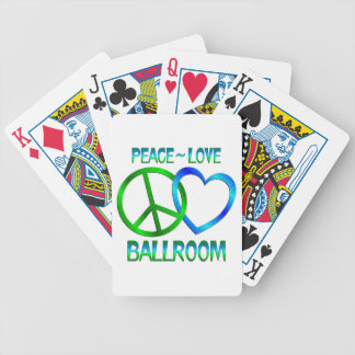 Peace Love BALLROOM Bicycle Playing Cards