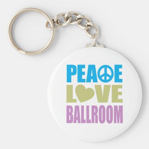 Peace Love Ballroom Keychain