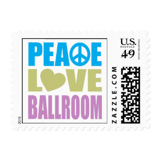 Peace Love Ballroom Postage Stamps