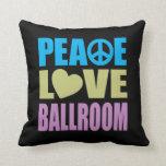 Peace Love Ballroom Throw Pillows