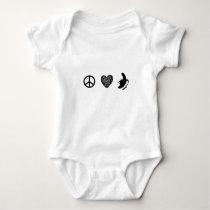 Peace, Love... Banana! Baby Bodysuit