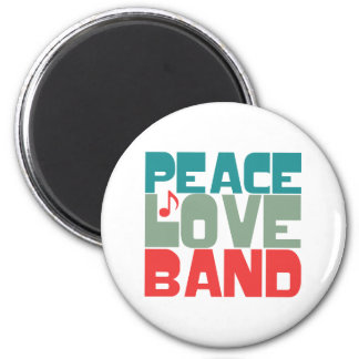 Peace Love Band 2 Inch Round Magnet