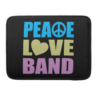 Peace Love Band MacBook Pro Sleeve