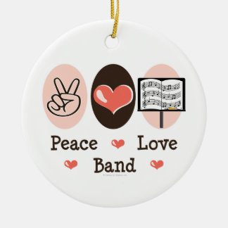 Peace Love Band Ornament