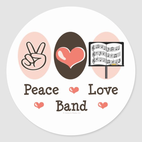 Peace Love Band Stickers