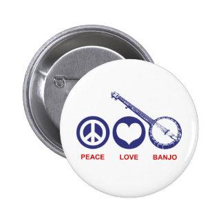 Peace Love Banjo Button