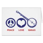 Peace Love Banjo Cards