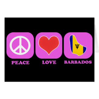 Peace Love Barbados Card