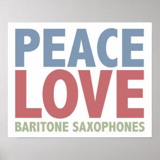 Peace Love Baritone Saxophones Print