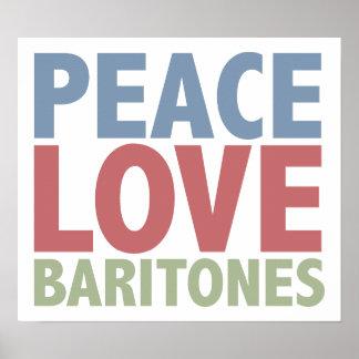 Peace Love Baritones Poster