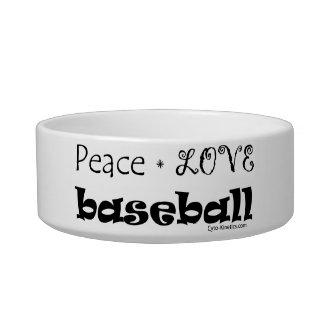 Peace Love Baseball Bowl