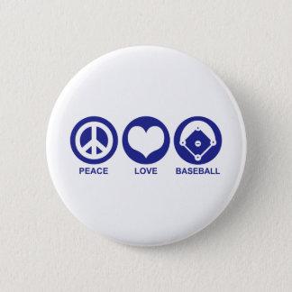 Peace Love Baseball Button