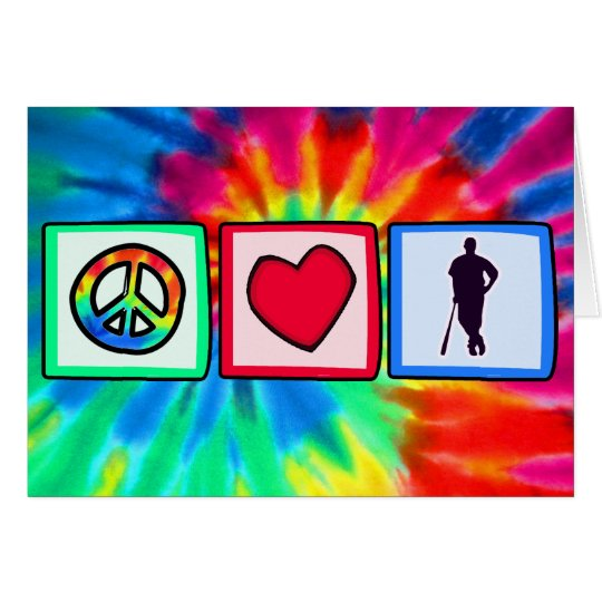 Peace, Love, Baseball; Card