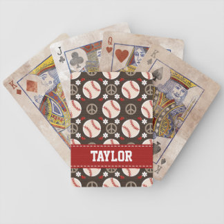 Peace Love Baseball Card Deck