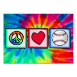 Peace, Love, Baseball Greeting Card