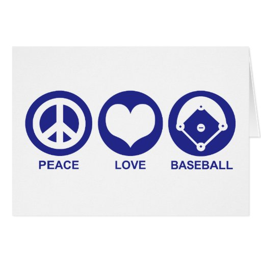 Peace Love Baseball Greeting Cards