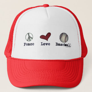 Peace Love Baseball Hat