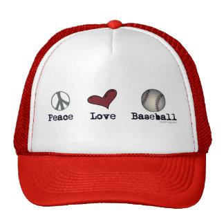 Peace Love Baseball Hat
