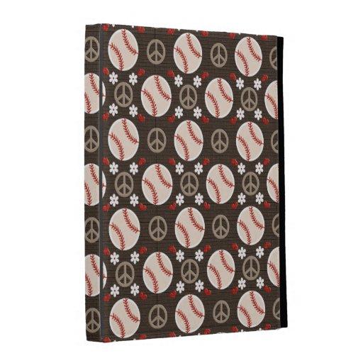 Peace Love Baseball iPad Folio Case Cover