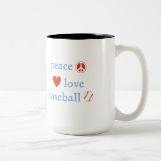 Peace Love Baseball Coffee Mug