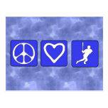 Peace Love Baseball Post Cards
