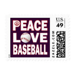 PEACE LOVE BASEBALL POSTAGE STAMPS