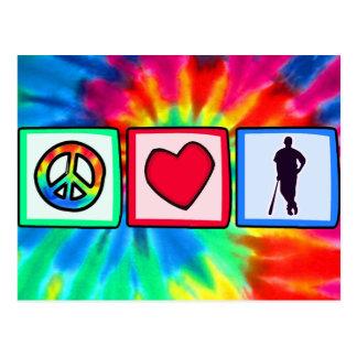 Peace, Love, Baseball; Postcard