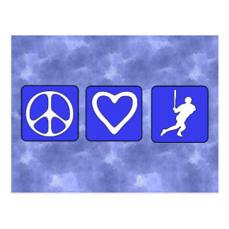 Peace Love Baseball Postcard