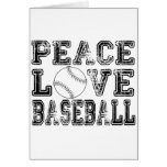 Peace, Love, Baseball Style 2 Greeting Card