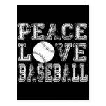 Peace, Love, Baseball Style 2 Postcard