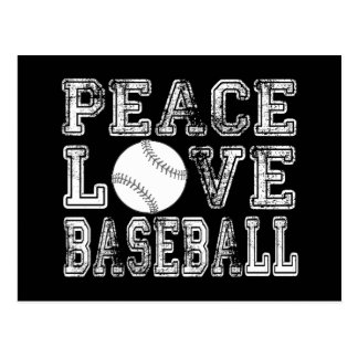 Peace, Love, Baseball Style 2 Postcard